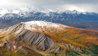 Termination dust on the foothills as winter moves in from the west, Denali Park